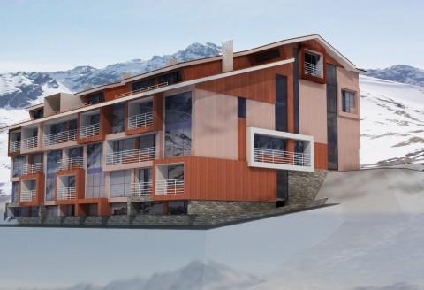Аппартамент-отель на горнолыжном курорте в италии